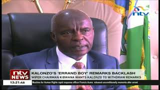 Video Wiper chairman Kibwana wants Kalonzo to withdraw 'errand boy' remarks download MP3, 3GP, MP4, WEBM, AVI, FLV November 2018