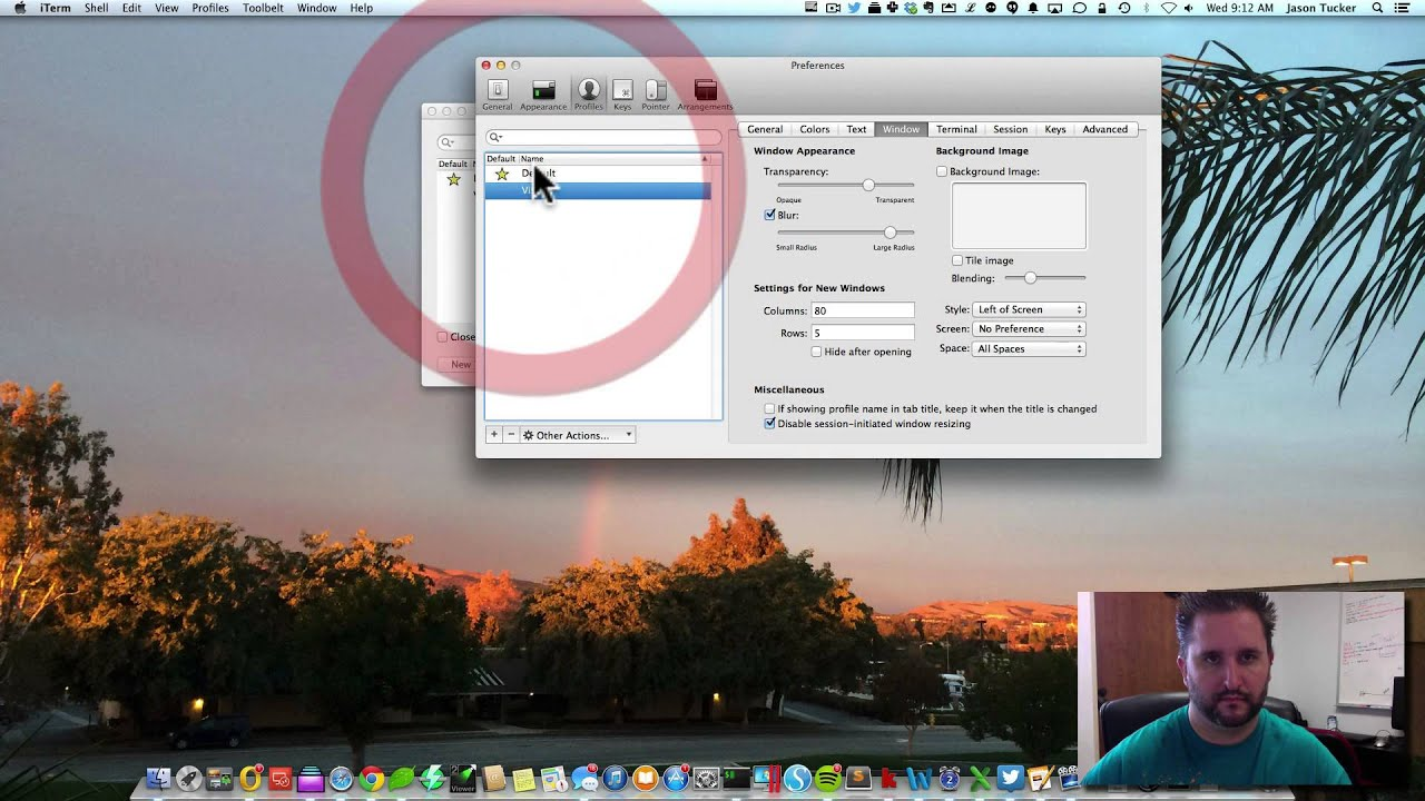 How to make iTerm 2 display a dropdown visor in OS X