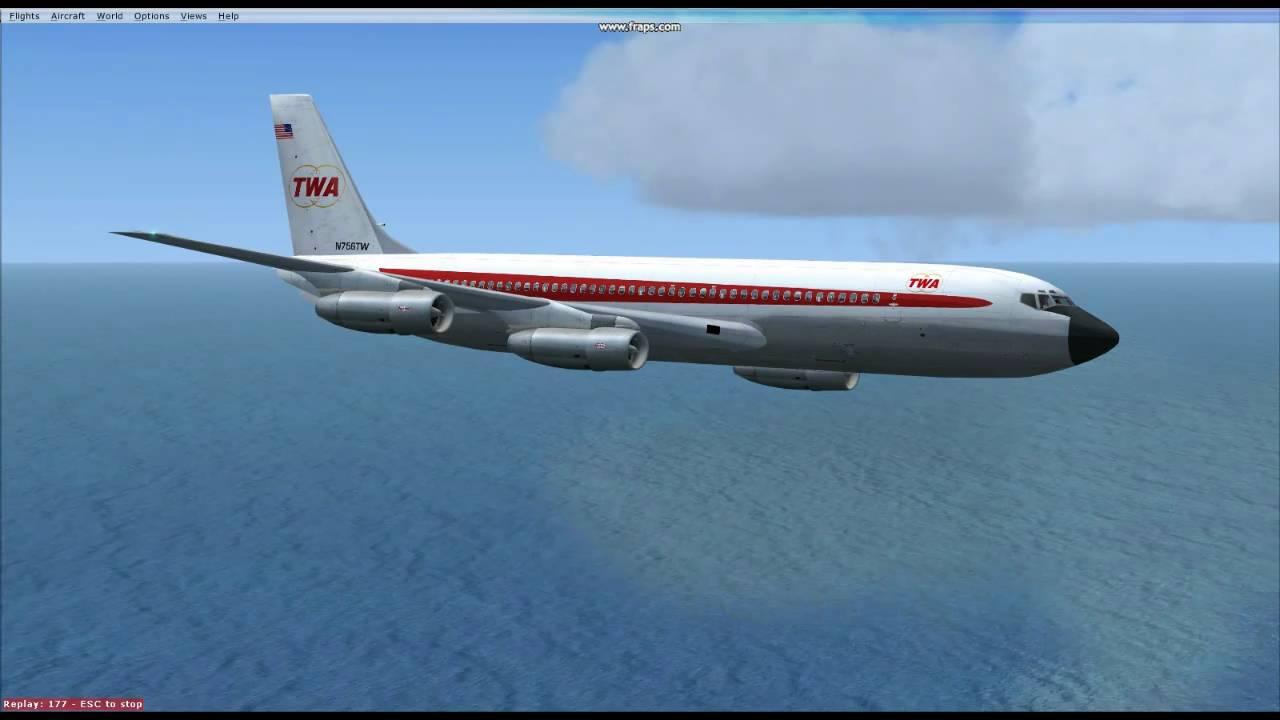 Fsx Boeing 707 320b Trans World Airlines 1966 Model Twa