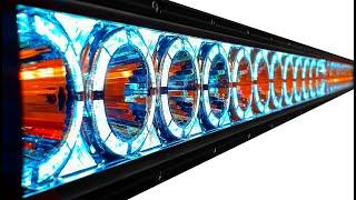 Лазерная фара тест, обзор и сравнение с штатным светом, балка Тяжелая Техника Ground Zero 35 см