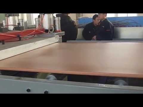 pvc wpc skinning foam board machine--Email: jessica@wpcmachinery.com