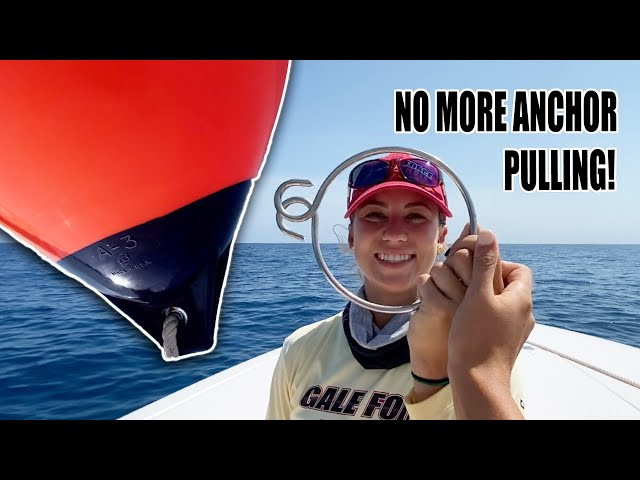 HOW TO USE AN ANCHOR BALL - Never pull an anchor again ⚓️ Using a polyform buoy | Gale Force Twins