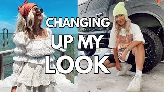 changing up my look | hair extensions, new style, makeup
