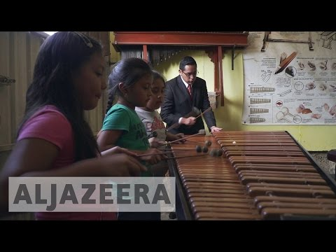 Traditional music strikes a cord with youngsters in Guatemala
