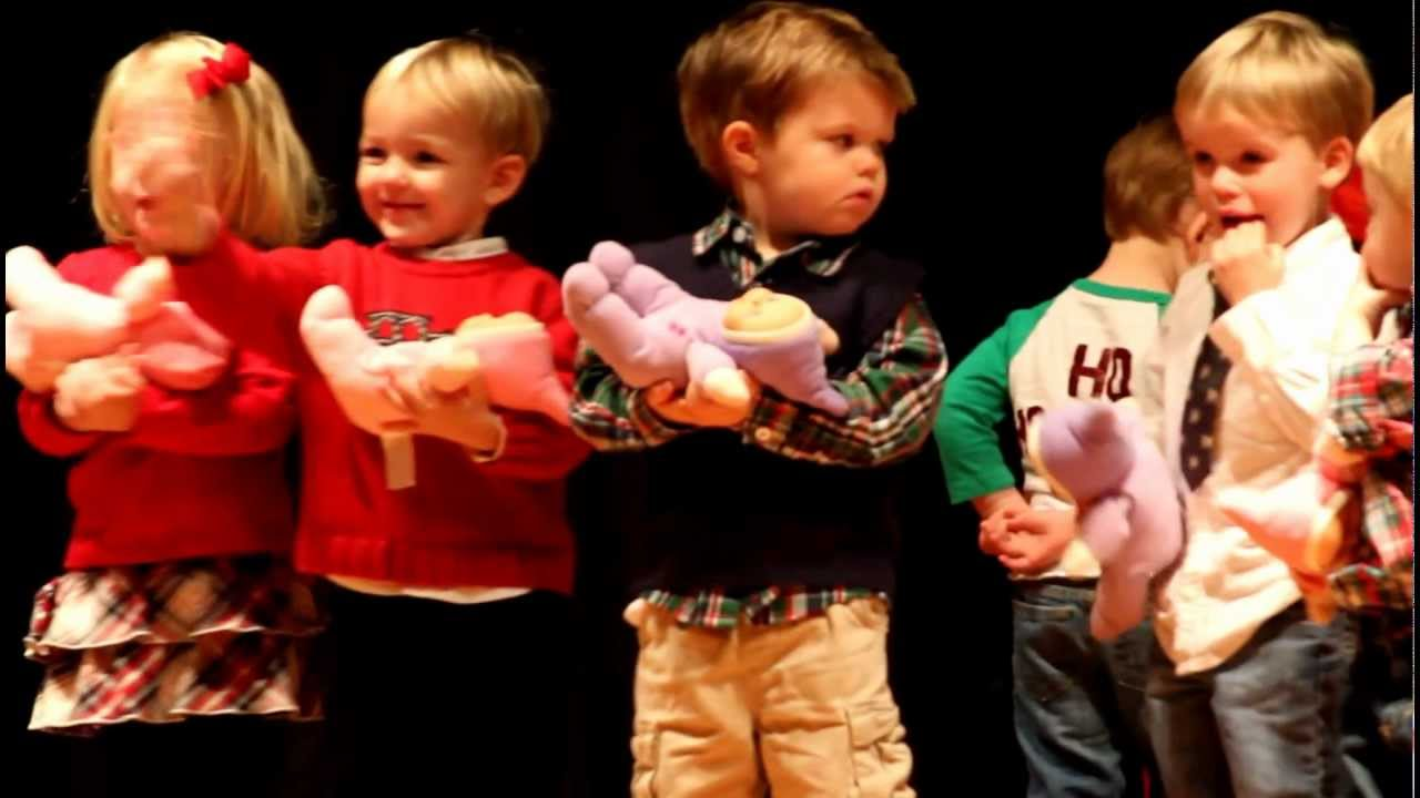 Preschool Christmas Program Songs Frolicking Frogs 2012 - YouTube