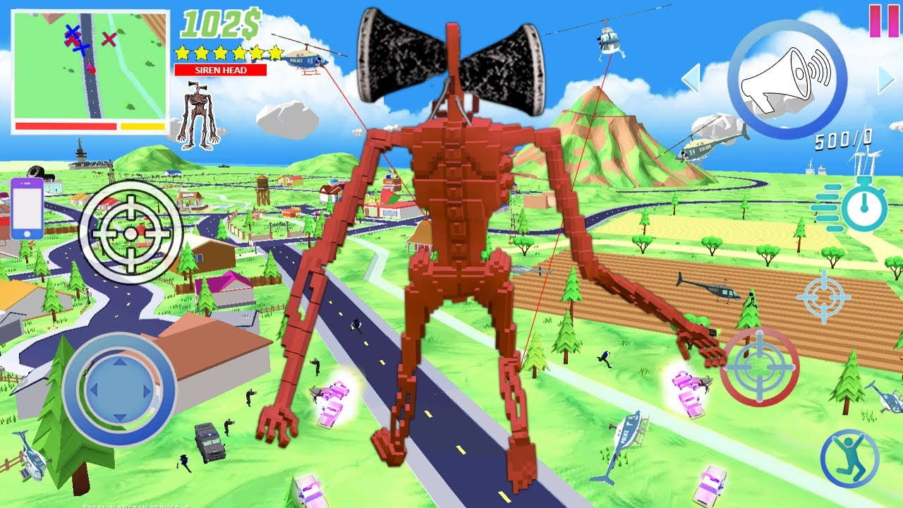 Download Playing Dude Theft Wars As A Siren Head..