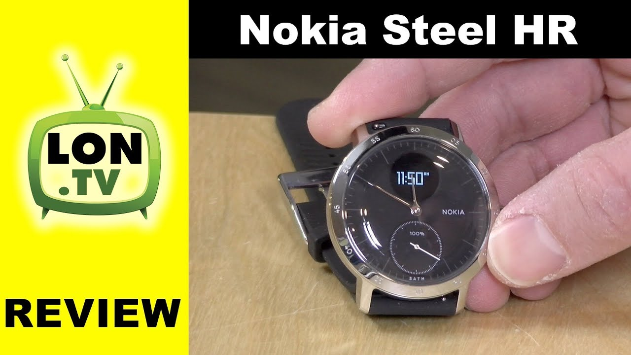 Withings Nokia Steel HR Heart Rate Activity Tracking Watch Review