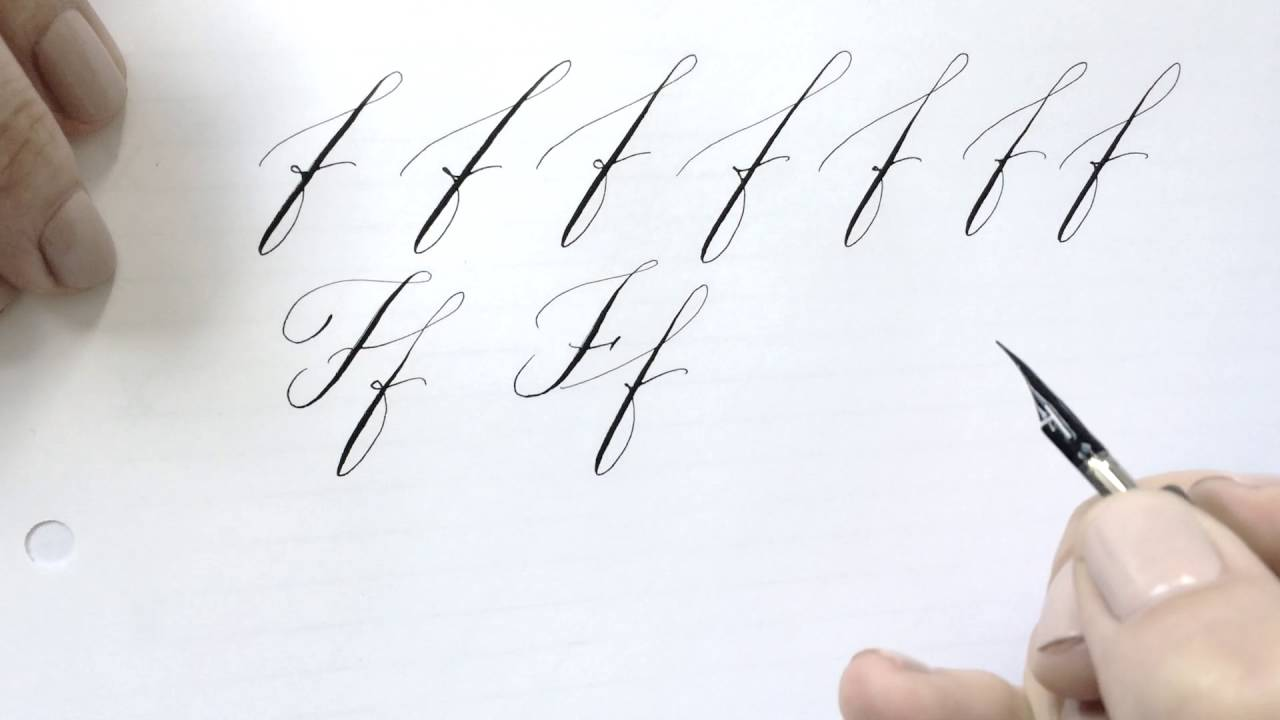 Modern Calligraphy Letter F