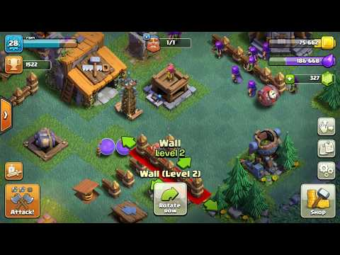 Clash of clans builder base glitch || unsaved walls