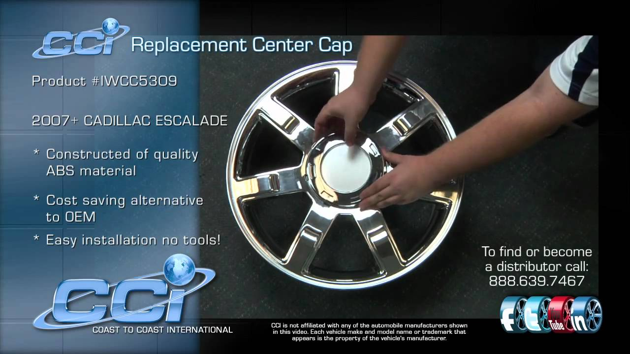 Cadillac Escalade Cci Center Cap Youtube