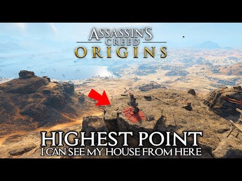 Assassin's Creed Origins - Highest Peak on the Map - I Can See My House From Here Achievement/Trophy