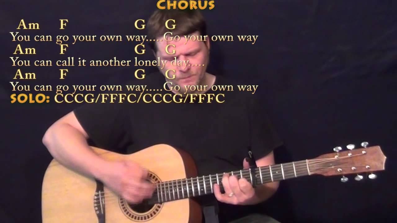Go Your Own Way Fleetwood Mac Strum Guitar Cover Lesson With