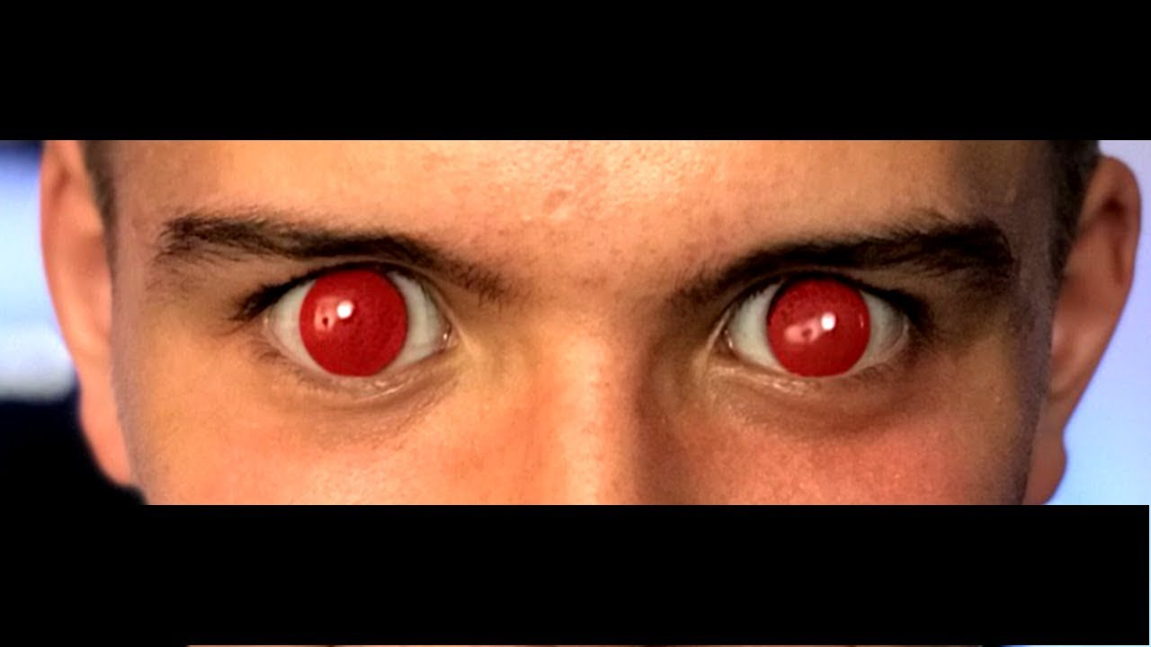 Creepy Halloween Contact Lenses First Time Testing