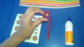 Simple quilling flower for beginners