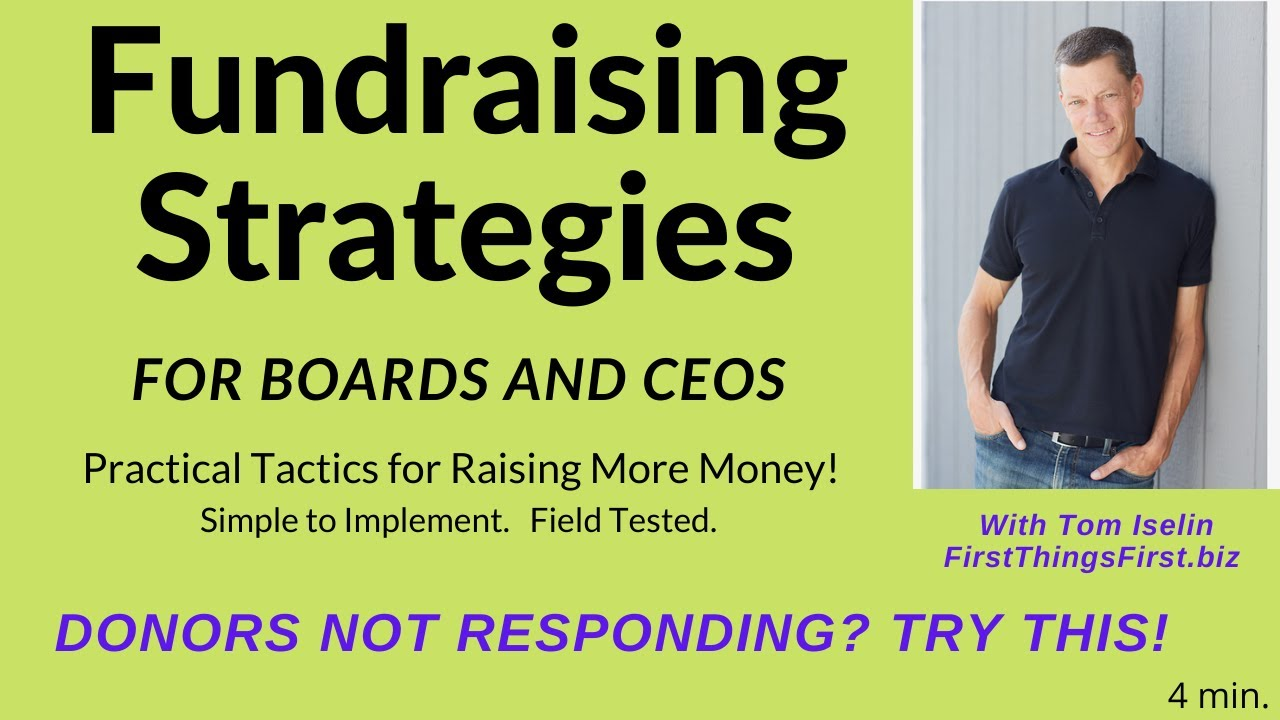 Are Your Donors Not Responding -- Try This!