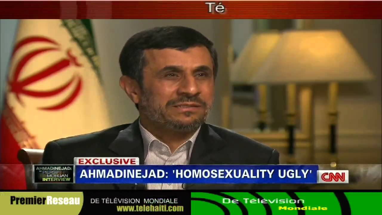 gay president iran ahmadinejad slams homosexuality cnns piers morgan 9 24 2012 youtube