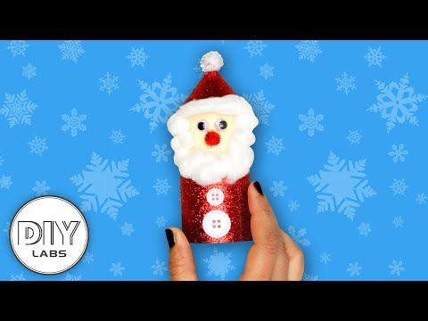 SANTA DECORATION | Christmas Paper Roll Craft | Fast-n-Easy | DIY Labs