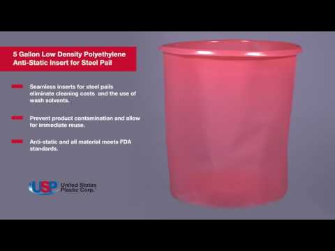 5 Gallon Low Density Polyethylene Anti-Static Insert for Pails | U.S. PLASTIC CORPORATION®