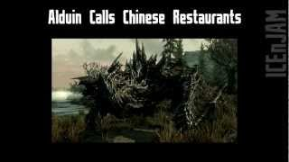 Alduin Calls Chinese Restaurants - Skyrim Prank Call