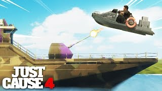 Just Cause 4 - TOY BOAT VS THE DESTROYER WARSHIP!