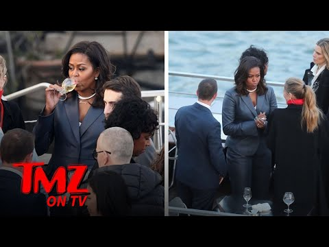 Michelle Obama on Paris Dinner Cruise During Notre Dame Cathedral Fire  TMZ TV