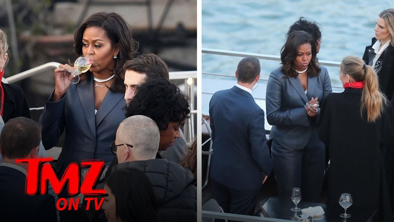 Michelle Obama on Paris Dinner Cruise During Notre Dame Cathedral Fire | TMZ TV