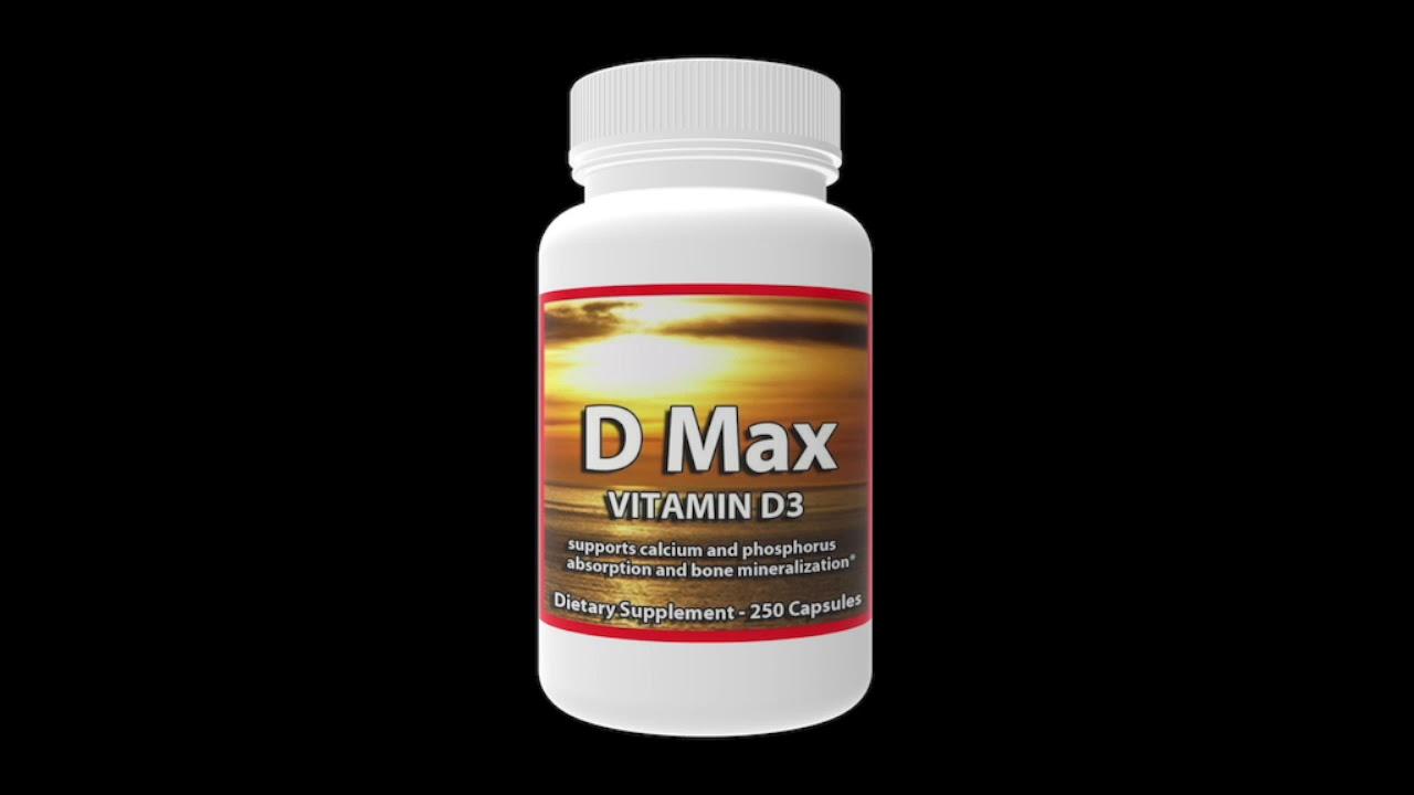 max d vitamin per dag