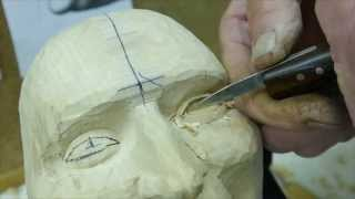 Carving A Happy Face - Woodcarving Clip By Ian Norbury