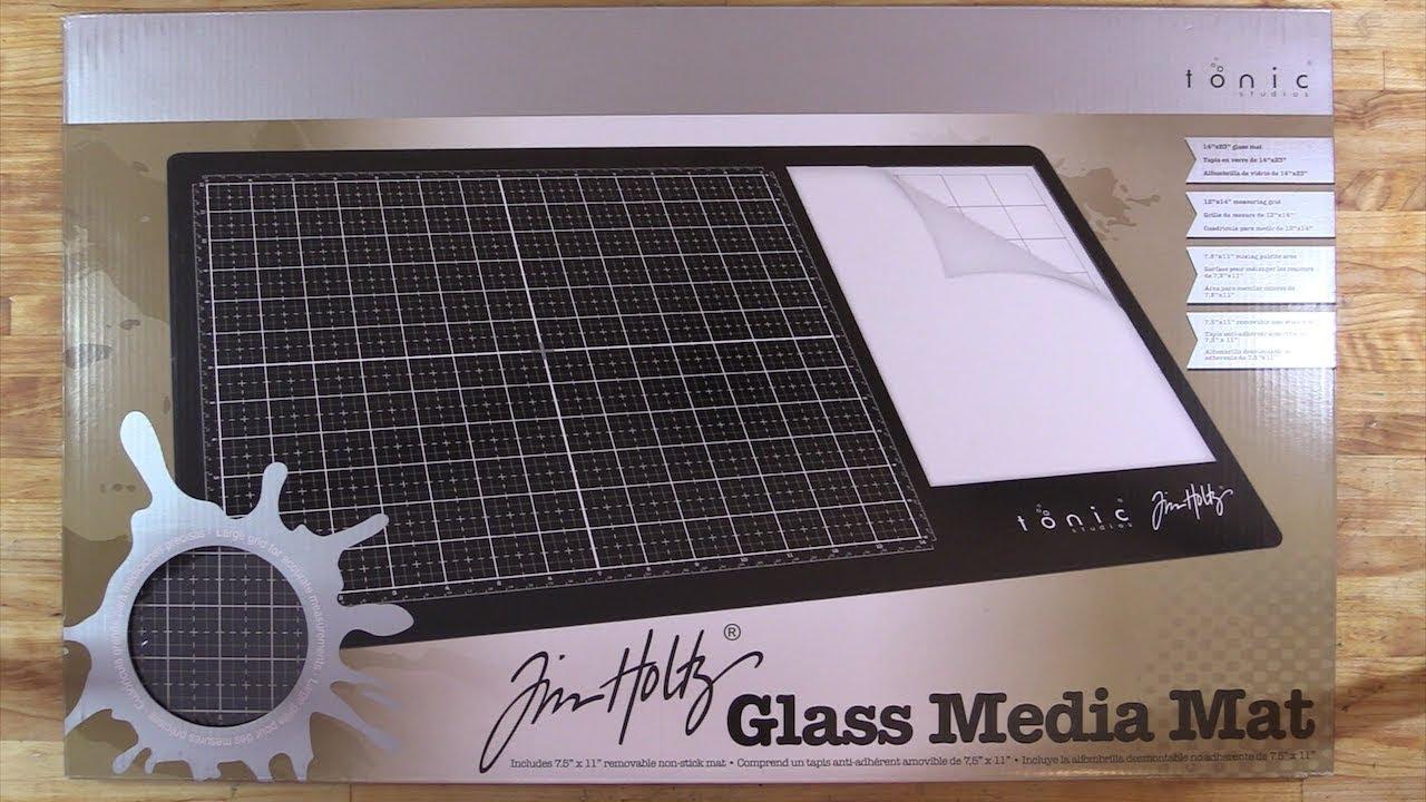 Tim Holtz Glass Media Mat - Scrapbook.com