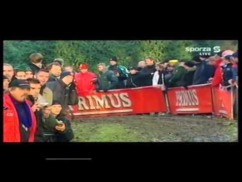 Cyclocross Overijse (met karate trap Bart Wellens) 18-12-2005 - Lars Boom