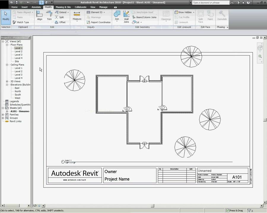Title Blocks And Printing In Revit Architecture Youtube