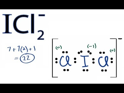 ICl2- Lewis Structure:  How to Draw the Lewis Structure for ICl2-
