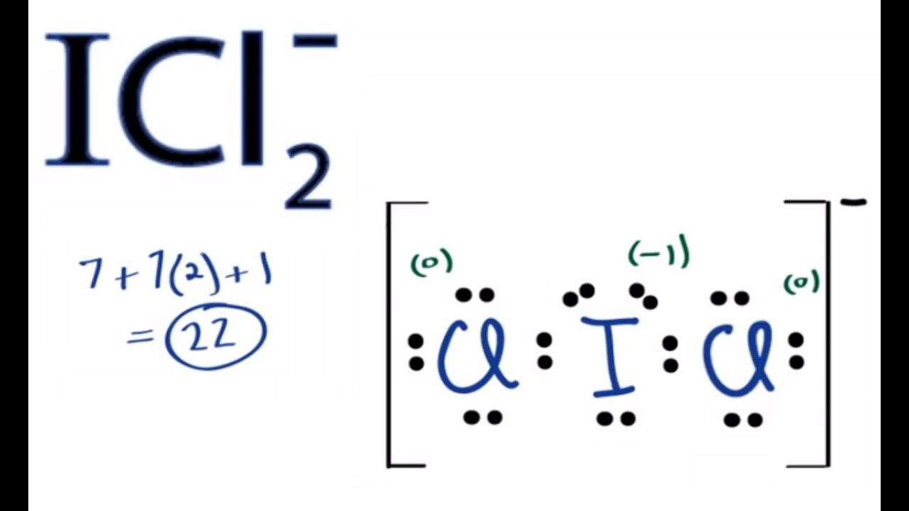 small resolution of icl2 lewis structure how to draw the lewis structure for icl2