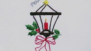 Bordado a mão: Lanterna de Natal
