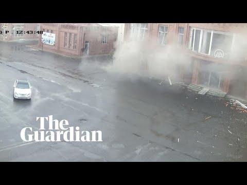 Azerbaijan: footage shows shelling in city of Ganja
