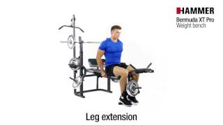 Pro Fitness Folding Workout Bench 50kg Weights Included press