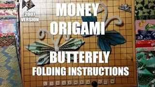 Money Origami Butterfly Folding Instructions