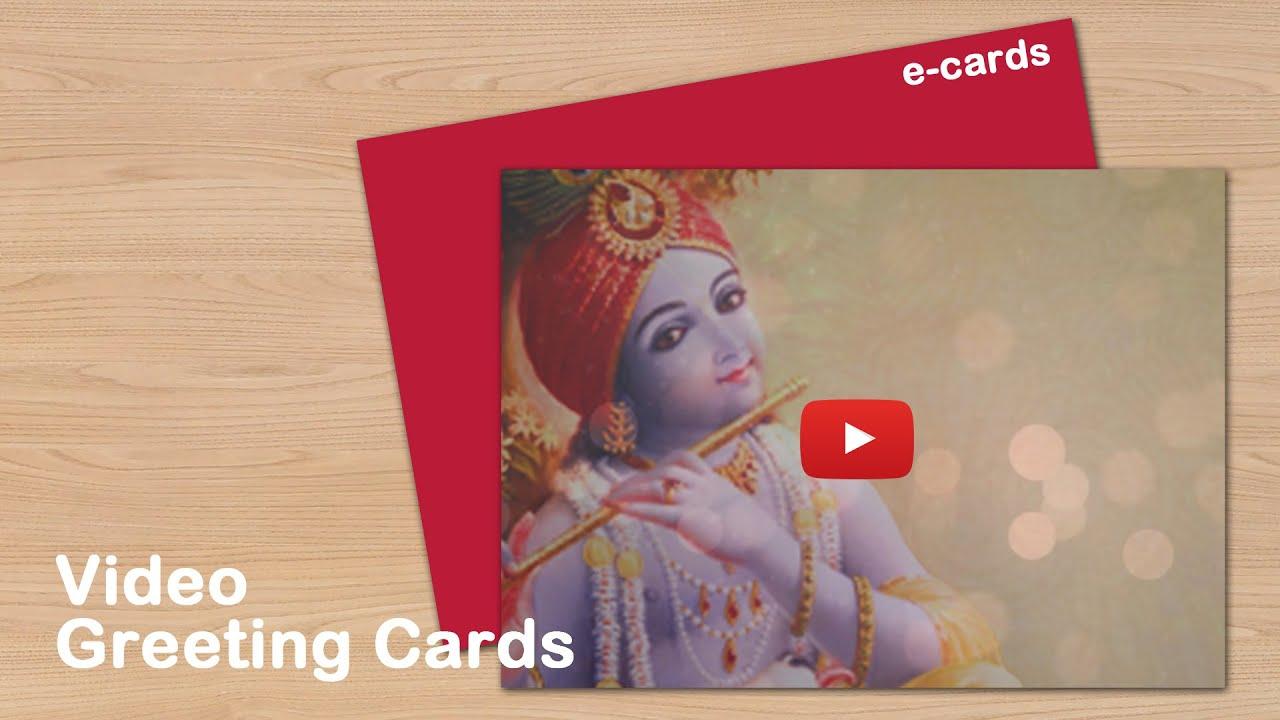 Ordinary Card Making Ideas For Janmashtami Part - 3: Happy Krishna Janmashtami Video Greeting Cards