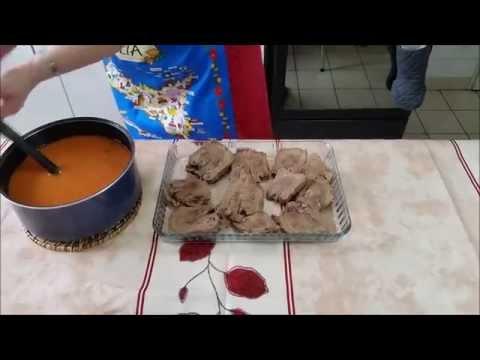 Langue de boeuf en piperade family tripes doovi - Comment cuisiner la langue de boeuf ...