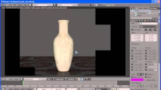 Видео урок по созданию напольной вазы в Blender-e(часть2)