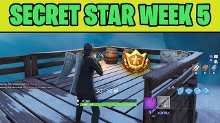 SECRET BATTLE STAR WEEK 5 SEASON 7 EXACT LOCATION! - Fortnite Battle Royale