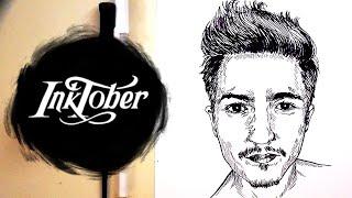 Drawing Nathan Schwandt - Inktober Day 12 - Using Dip Pens