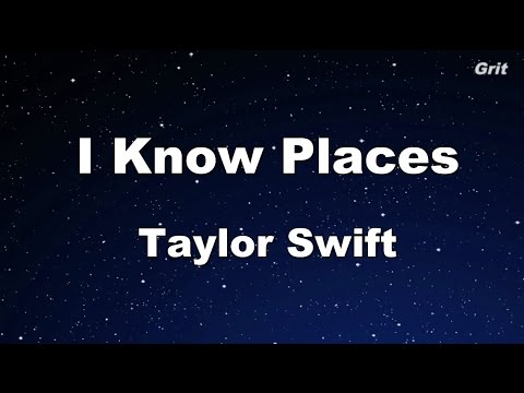 I Know Places - Taylor Swift Karaoke【No Guide Melody】