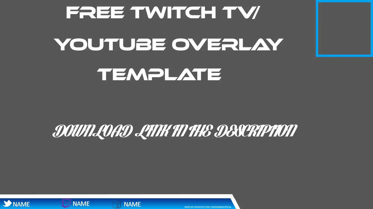 free twitch tv youtube overlay template youtube