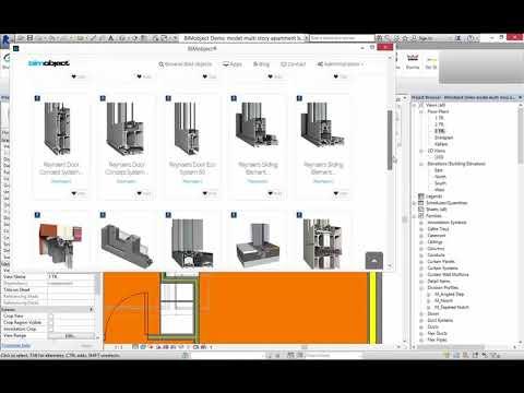 Introduzione gli oggetti BIM Reynaers e alla BIMobject App