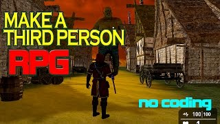 How to make a Third Person RPG Game 3D - Game Guru