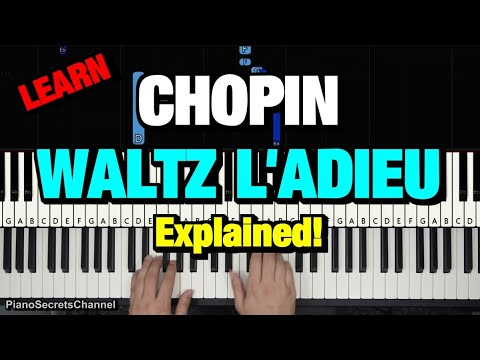 How to play - chopin - waltz l'adieu (piano tutorial lesson) (op. 69 no. 1) mp3