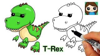 How to Draw a T-Rex Dinosaur Roblox Adopt Me Pet