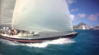 12 Meter Americas Cup racing in St Maarten