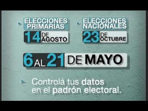 Padrón Electoral - Consulte dónde votar - Elecciones 2019из YouTube · Длительность: 1 мин6 с